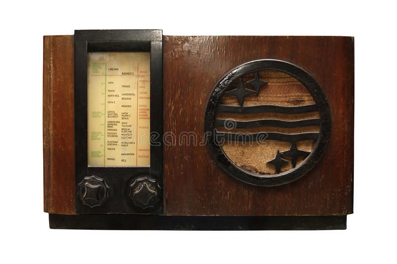 Altes radio_1 stockbild
