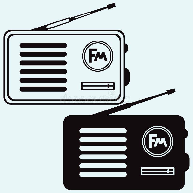 Altes Radiogerät stock abbildung
