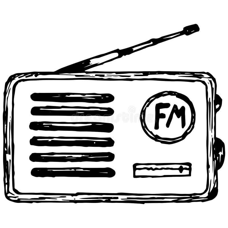 Altes Radiogerät lizenzfreie abbildung