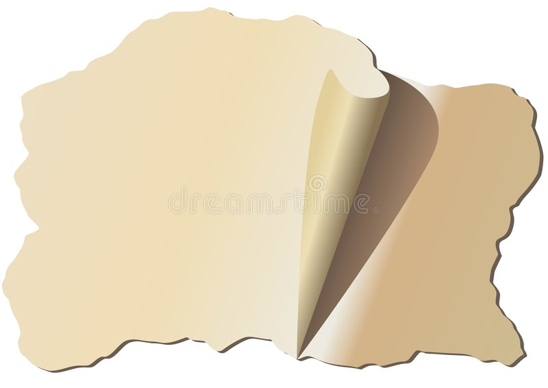 Altes ragget Papier vektor abbildung