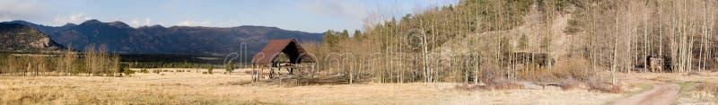 Altes Ranchpanorama stockbild