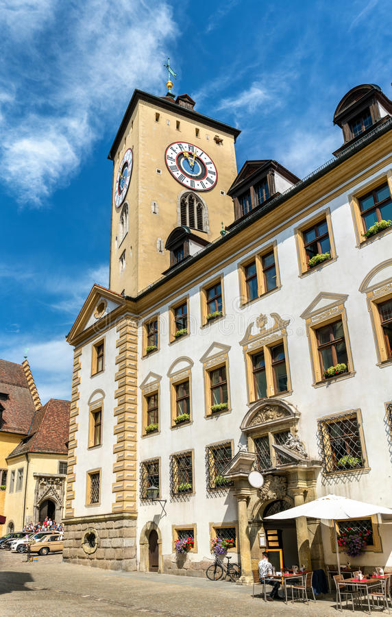 Altes Rathaus, the old town hall in Regensburg, Germany. Altes Rathaus, the old town hall in Regensburg - Bavaria, Germany stock photo