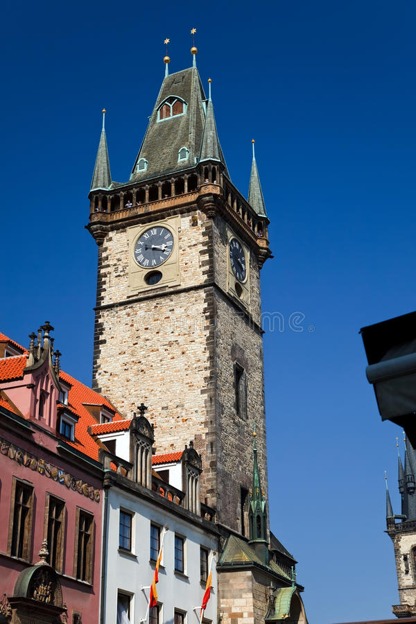 Altes Rathaus in Prag lizenzfreie stockfotos