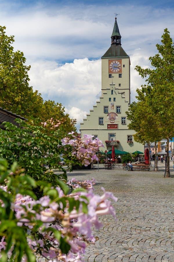 Altes Rathaus sur le platz d'Oberer dans Deggendorf, Bavière, Allemagne photo libre de droits
