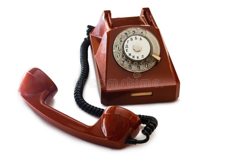Altes Retro- sowjetisches Telefon lizenzfreies stockbild