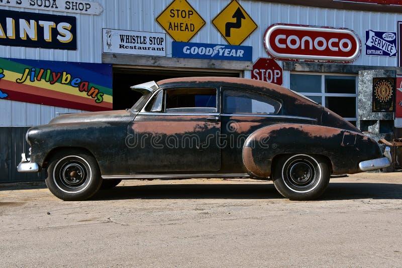 Altes rostiges Chevy-Auto stockbild