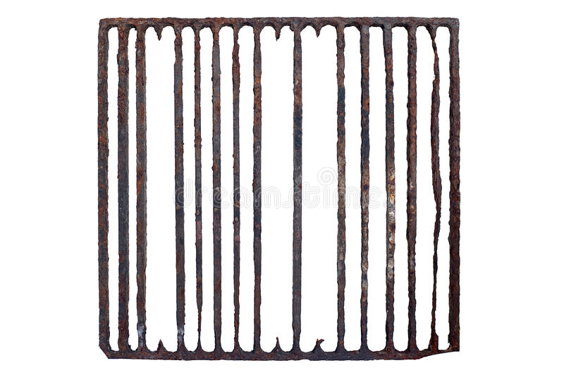 Altes, rostiges Gefängnisgitter stockfoto