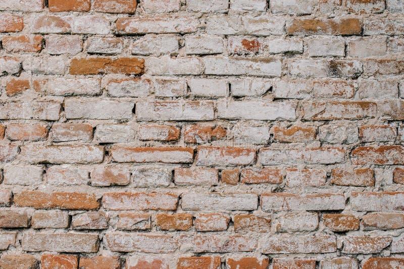 Altes Rotes, braun, weiß, Backsteinmauer, Beschaffenheit, Hintergrund lizenzfreie stockbilder