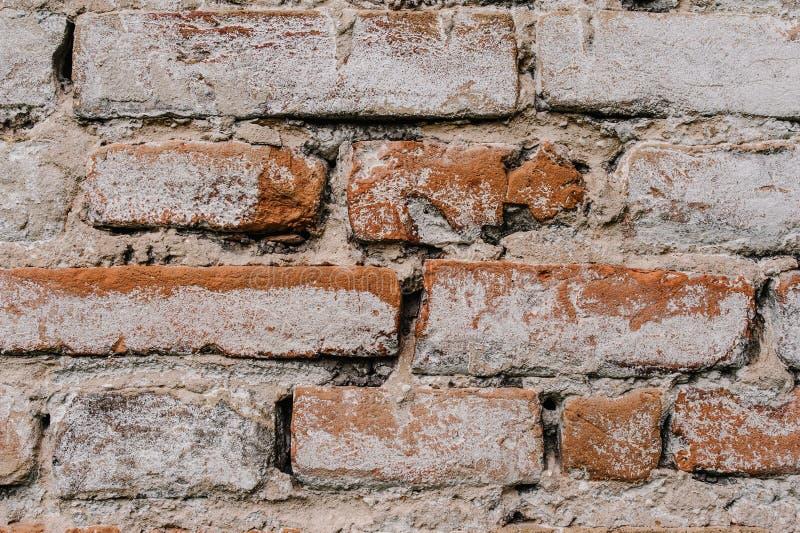 Altes Rotes, braun, weiß, Backsteinmauer, Beschaffenheit, Hintergrund stockfotos