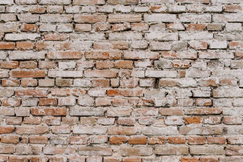 Altes Rotes, braun, weiß, Backsteinmauer, Beschaffenheit, Hintergrund stockbilder