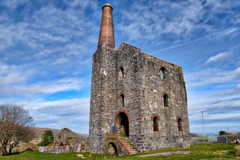 Altes ruiniertes Tin Mine, stockfotos