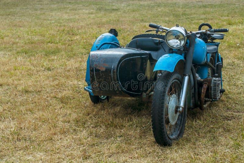Altes russisches Motorrad stockfoto