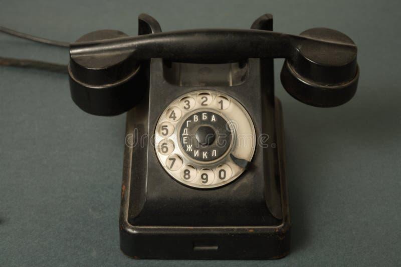 Altes russisches Telefon lizenzfreies stockfoto