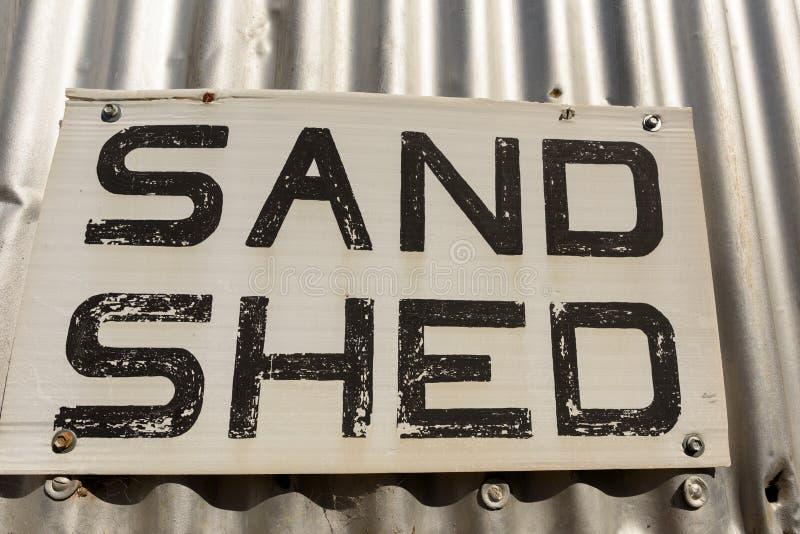 Altes Sandhallenzeichen stockbilder