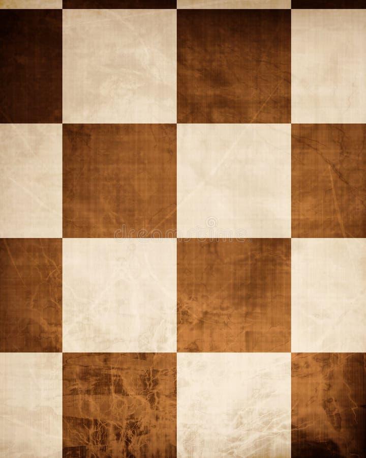 Altes Schachbrett stock abbildung