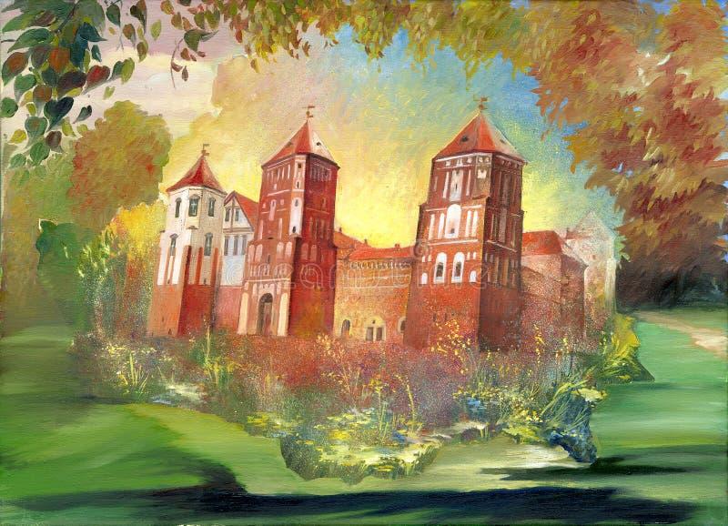 Altes Schloss lizenzfreie abbildung