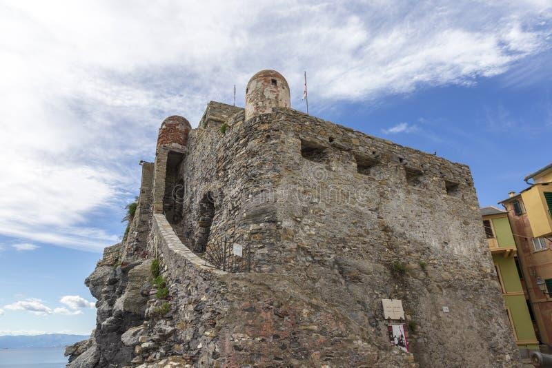Altes Schloss bei Camogli Ligurien Italien lizenzfreie stockfotografie