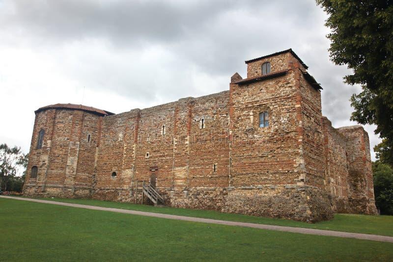 Altes Schloss in Colchester stockfotos