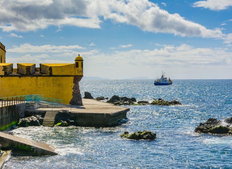Altes Schloss Fortaleza de Sao Tiago in Funchal lizenzfreies stockbild