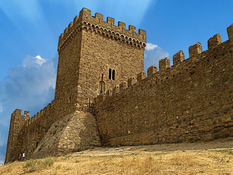 Altes Schloss in Krim lizenzfreies stockfoto