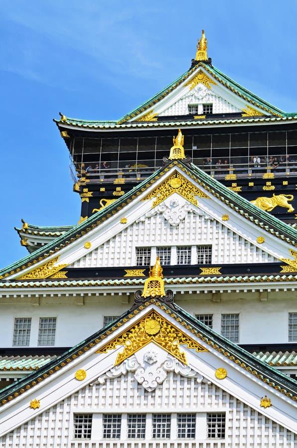 Altes Schloss Osaka stockfotografie