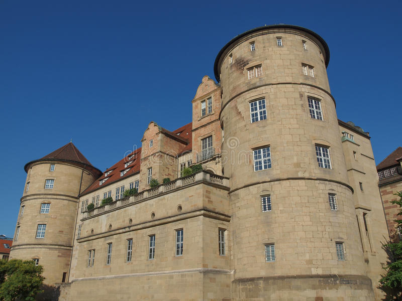 Altes Schloss (Oud Kasteel), Stuttgart royalty-vrije stock foto