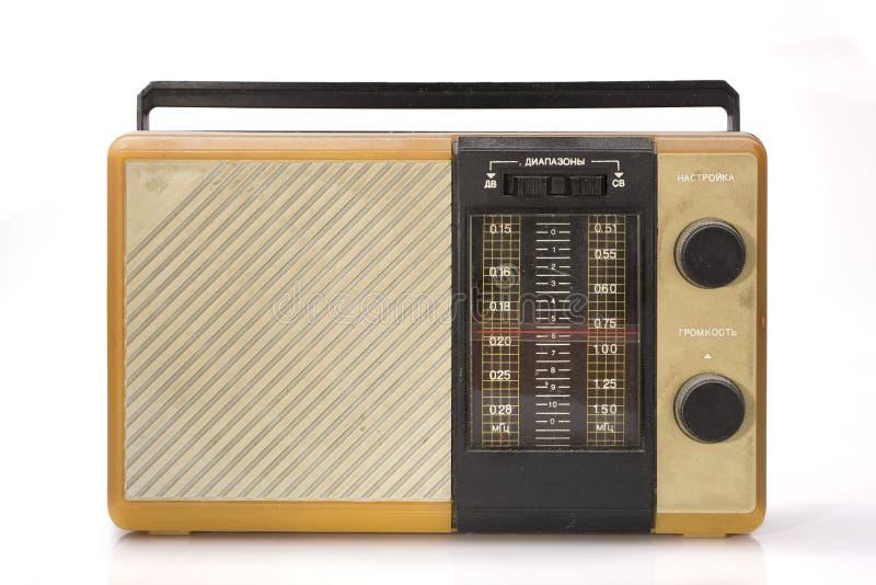 Altes schmutziges staubiges Radiogerät lizenzfreie stockfotografie