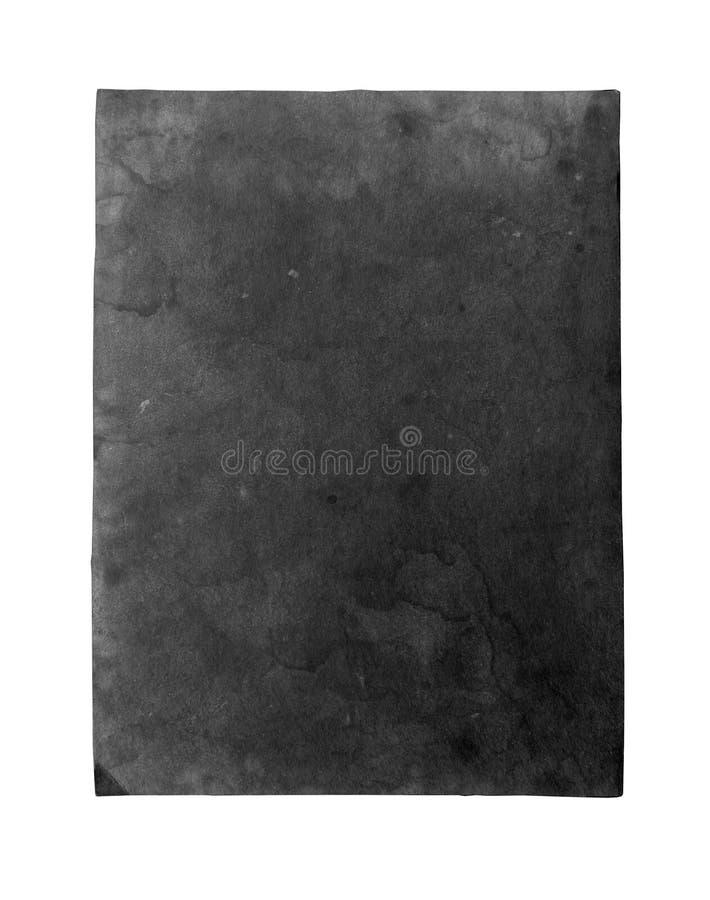 Altes schwarzes Papierblatt stockfoto