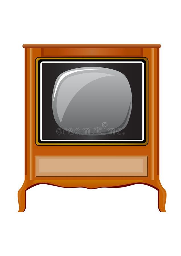 Altes Schwarzweiss-Fernsehen stockfotografie