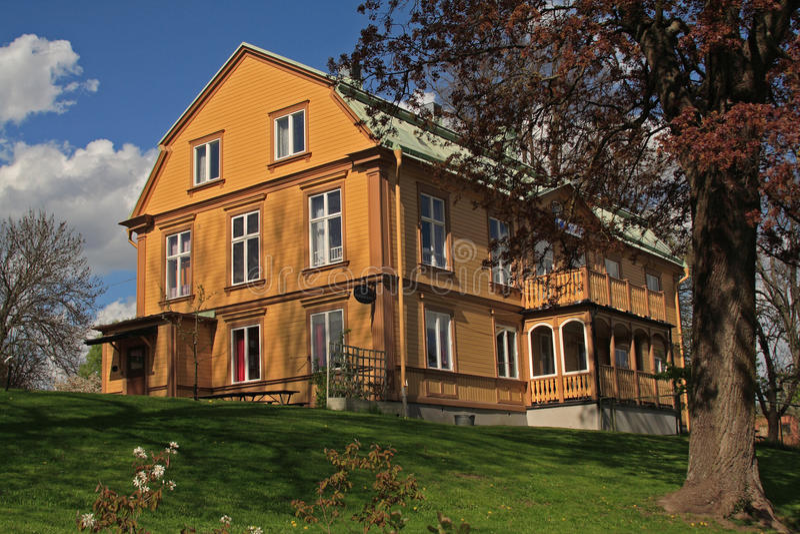 Altes Schweden-Haus stockbild