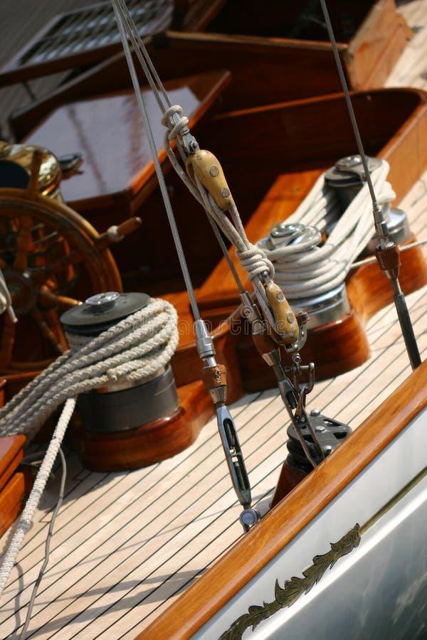Altes Segelnboot lizenzfreies stockbild