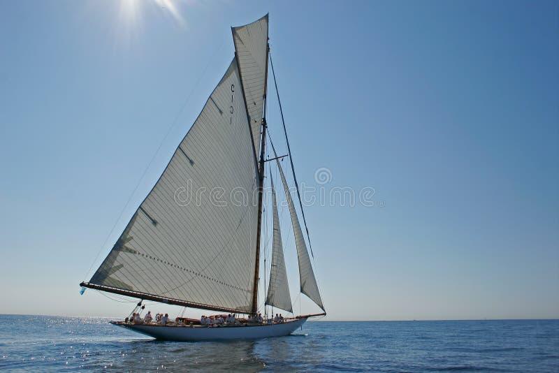Altes Segelnboot lizenzfreie stockbilder