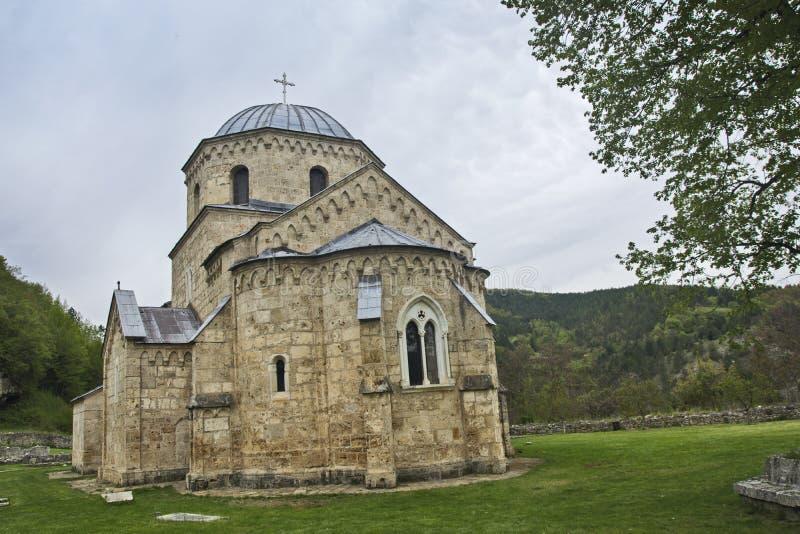 Altes serbisches Kloster lizenzfreies stockbild