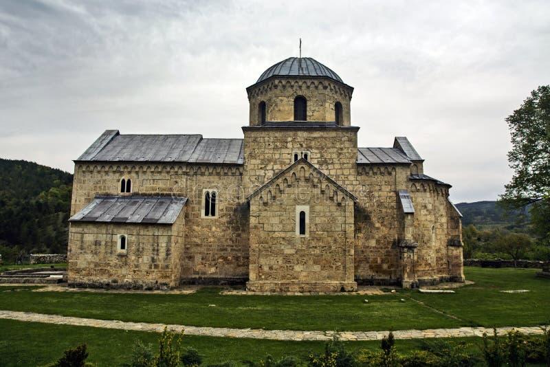 Altes serbisches Kloster stockbilder