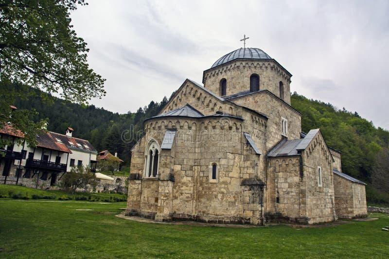 Altes serbisches Kloster stockfotos
