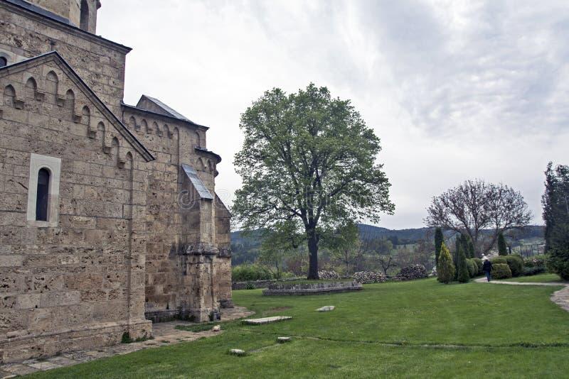 Altes serbisches Kloster stockfotografie