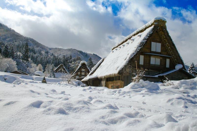 Altes Shirakawako Haus lizenzfreie stockfotos