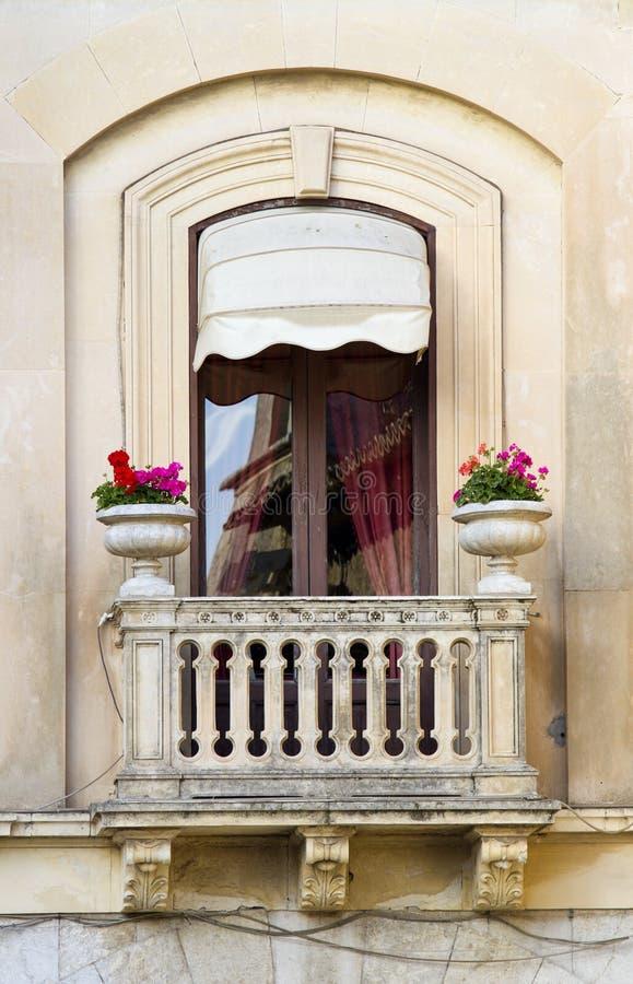 Altes siclian Fenster lizenzfreie stockbilder