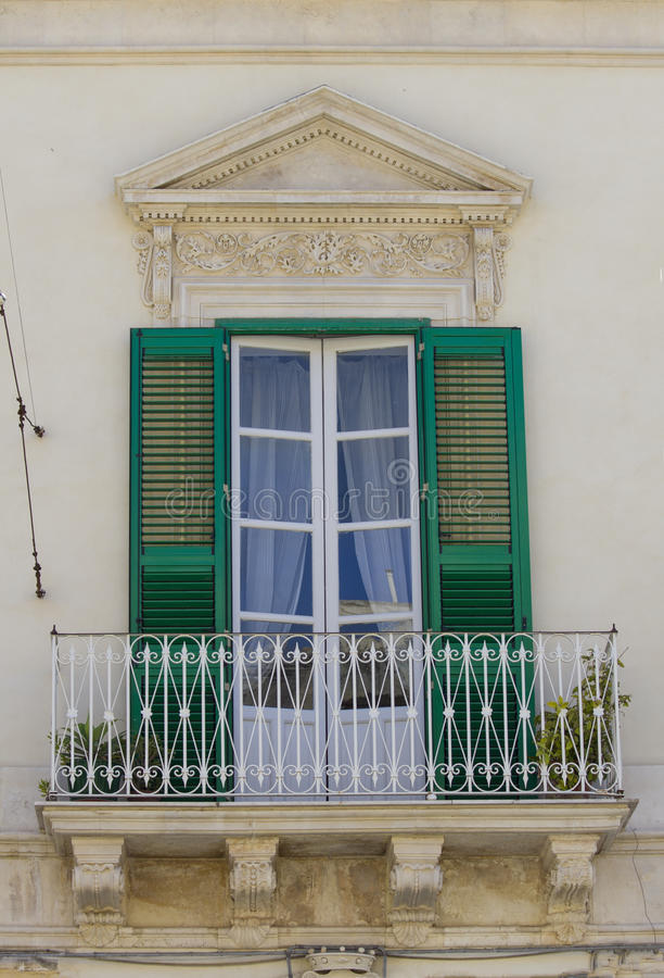 Altes siclian Fenster lizenzfreies stockbild