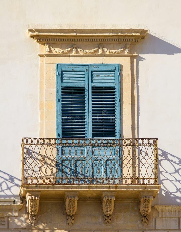 Altes siclian Fenster stockbilder