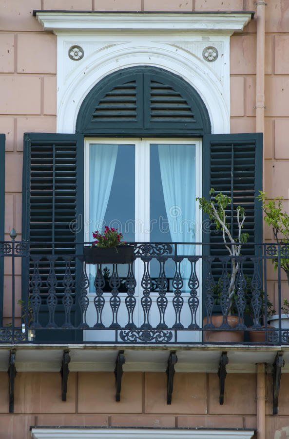 Altes siclian Fenster stockbild
