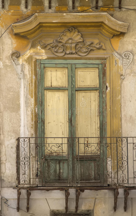 Altes siclian Fenster lizenzfreie stockfotos