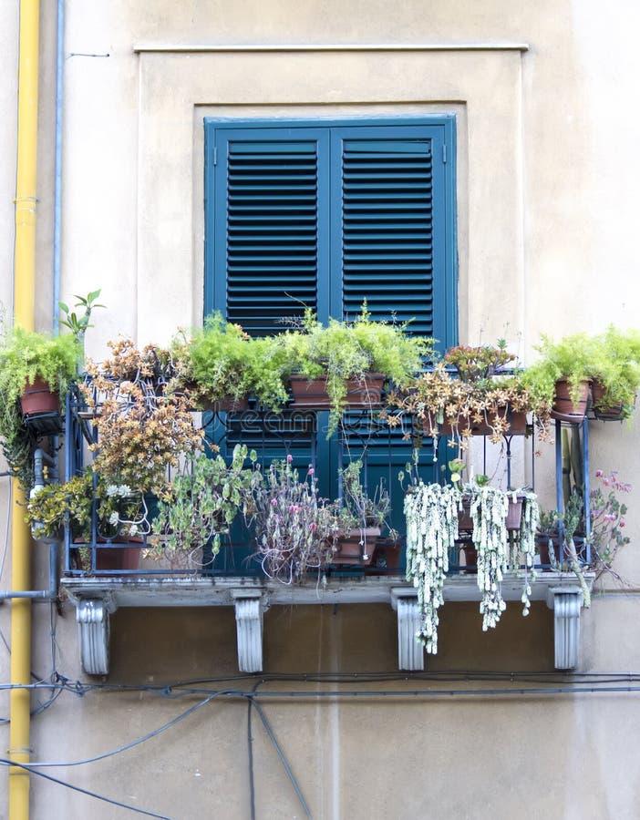 Altes siclian Fenster lizenzfreies stockfoto