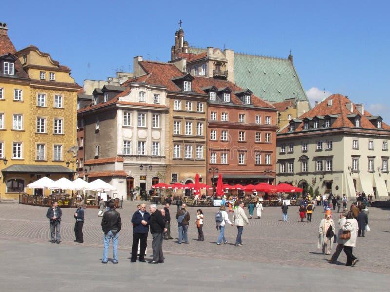 Altes Stadtmarkt-Quadrat in Warschau lizenzfreies stockfoto