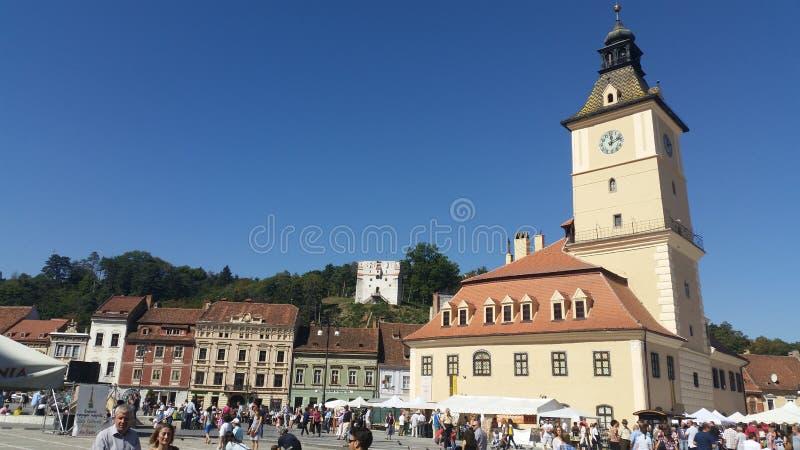 Altes Stadtzentrum Brasov lizenzfreie stockbilder