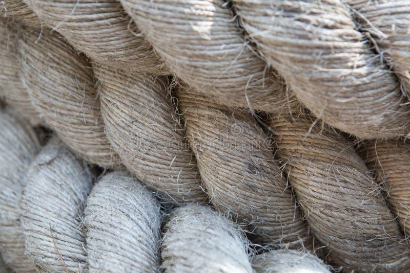 Altes starkes Seil stockbilder