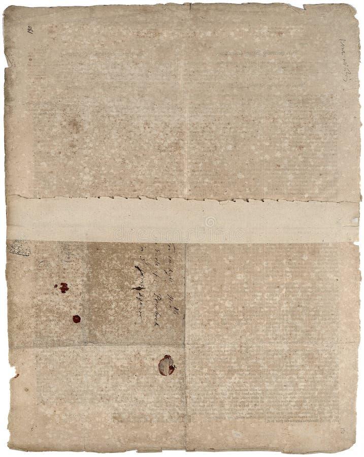 Altes stationäres antikes Papier stock abbildung
