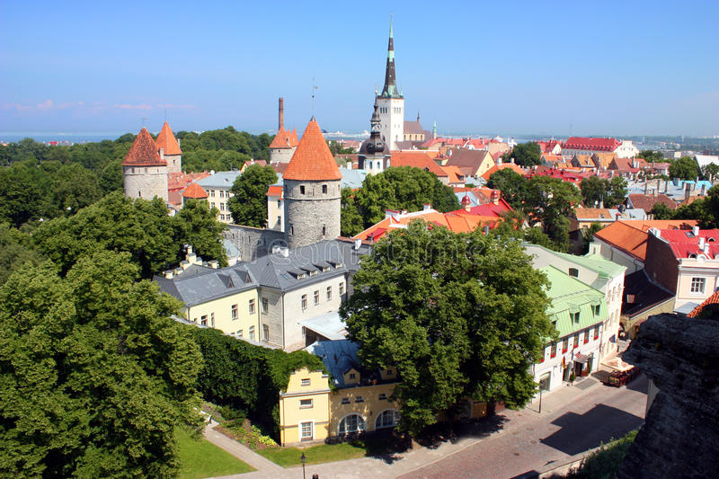 Altes Tallinn stockfoto