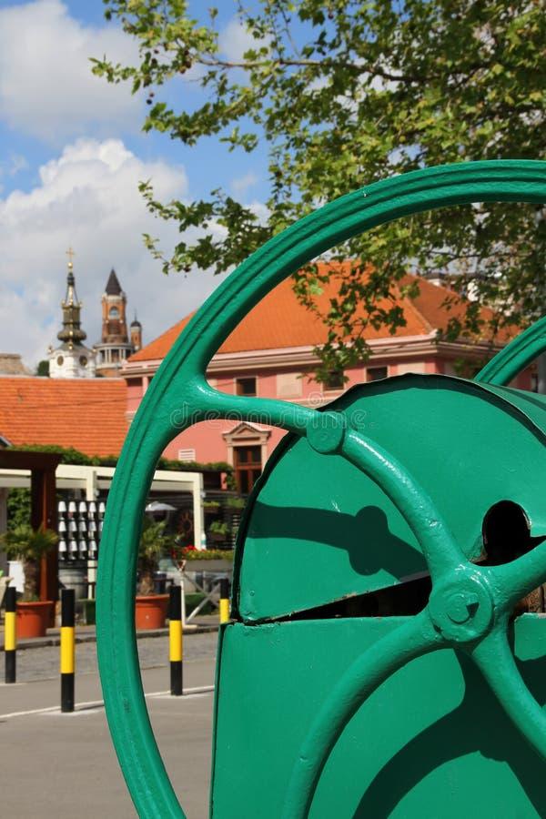 Altes Teil von Zemun, Serbien lizenzfreies stockbild