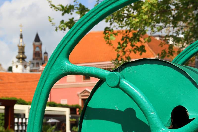 Altes Teil von Zemun, Serbien stockfotos